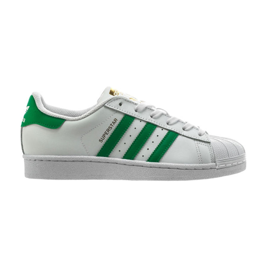Adidas Original SUPERSTAR Junior's - FTWWHT/GREEN/GOLDMT/FTWBLA/VERT/ORMETA - Moesports