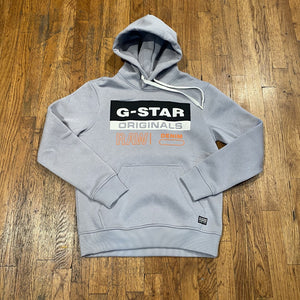 G-Star COLOR BLOCK ORIGINALS LOGO HOODY SW L/S Men's - STEEL GREY