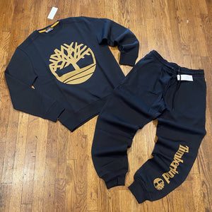 Timberland CORE LOGO CREW SWEATSUIT Men's - BB BLCK/WHEAT B