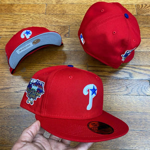 NEW ERA 5950 FITTED  PHILADELPHIA PHILLIES RED 2006 ALL-STAR SIDEPATCH-GREY BOTTOM