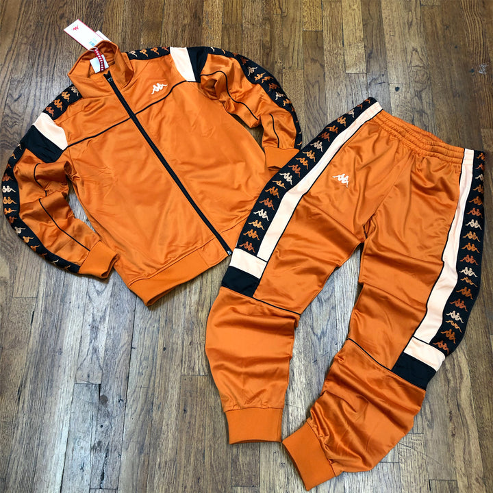 Kappa 222 BANDA DIFO SLIM FIT TRACKSUIT Men's - BURNT ORANGE/APRICOT/BLACK - Moesports