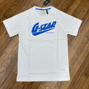 G-Star FAST RAGLAN GR R TEE S\S Men's - WHITE/ROYAL BLUE - Moesports