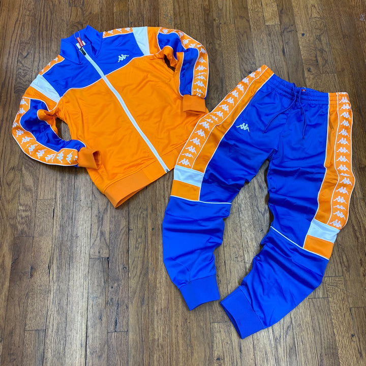 Kappa 222 BANDA MEREZ SLIMFIT TRACKSUIT Men's - ORANGE-BLUE/ROYAL-WHITE - Moesports