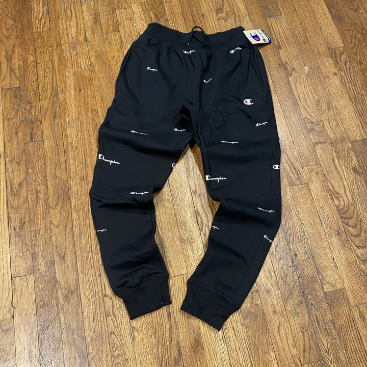 Champion REVERSE WEAVE PANT Men's ALL OVER PRINT -BLACK