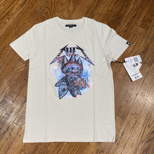 "Cult of Individuality SHORT SLEEVE CREW NECK TEE ""THE FLY"" Men's - CREAM"
