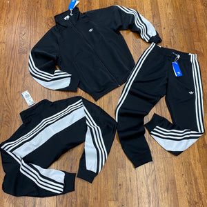 Adidas Original 3STRIPE WRAP TT TRACKSUIT Men's - BLACK/WHITE - Moesports