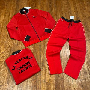 LACOSTE SPORT TRACKSUIT-RED/BLACK