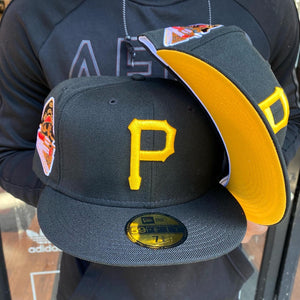 New Era Cap 5950 PIRATES FITTED YELLOW BOTTOM Men's - BLACK/YELLOW