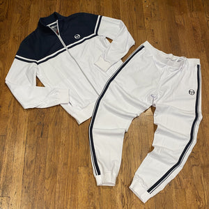 Sergio Tacchini YOUNG LINE PRO TRACKSUIT Men's - WHITE/NVY/