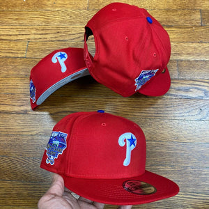 NEW ERA 950 SNAPBACK PHILADELPHIA PHILLIES RED/ROYAL ALL STAR GAME SIDE PATCH-GREY BOTTOM