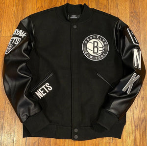 Pro Standard LUXURY ATHLETIC COLLECTION JACKET BROOKLYN NETS-BLACK WHITE