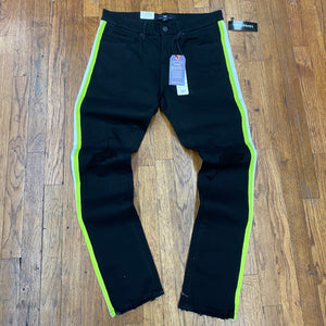 Jordan Craig LEGACY EDITION STRIPED DENIM JEANS Men's - JET BLACK - Moesports