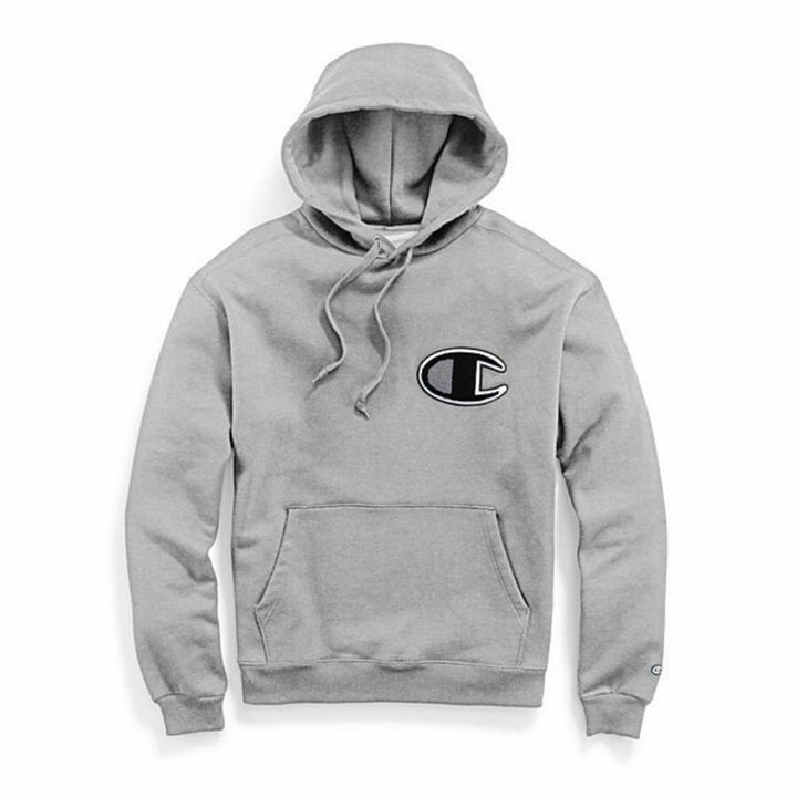 Champion SUPER FLEECE CONE HOOD BIG C Men's - OXFORD GRAY - Moesports