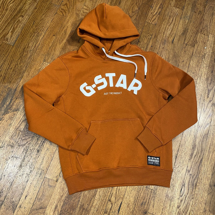 G-Star VARSITY FELT HDD SW L/S HOODY Men's - CINNAMON ORANGE