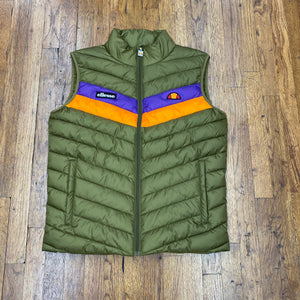 Ellesse QUIOLA PADDED VEST Men's - KHAKI/ORANGE/PURPLE - Moesports