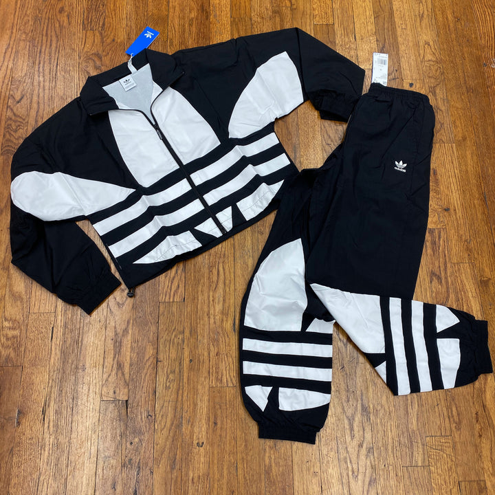 Adidas Originals LARGE LOGO TRACKSUIT  Women's - BLACK/WHITE - Moesports