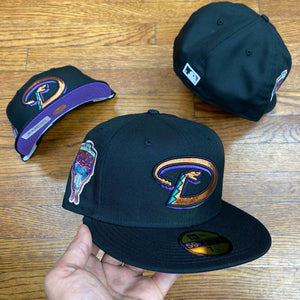 New Era 5950 ARIZONA DIAMONDBACKS FITTED-BLACK/UVPURPLE