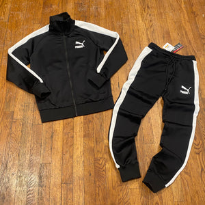 """Puma ICONIC T7 TRACKSUIT Men's - BLACKWHITE"