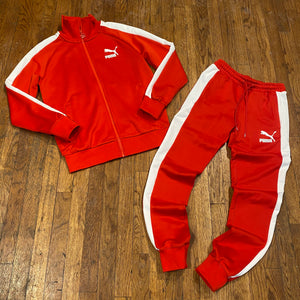 Puma  ICONIC  T7 TRACKSUIT  Men's - RED WHITE