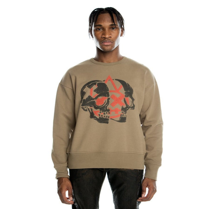 Cult of Individuality CREWNECK SWEATSHIRT  Men's - TAUPE