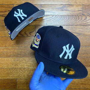New Era MLB WORLD SERIES 1956 RIGHT SIDE PATCH FITTED Men's - NAVY/WHITE