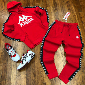Kappa 222 BANDA HURTADO SLIM FIT SWEATSUIT Men's - RED-WHITE - Moesports