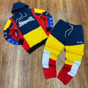 Le Tigre BOOSTER HOODIE SWEATSUIT Men's - NAVY/YELLOW/WHITE - Moesports