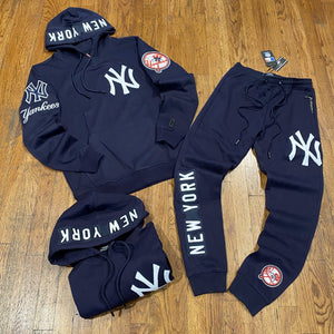 Pro Standard LUXURY ATHLETIC COLLECTION NEW YORK YANKEES SWEATSUIT Men's - NAVY/WHITE