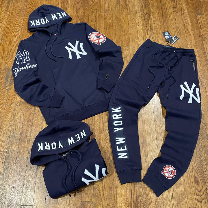 Pro Standard LUXURY ATHLETIC COLLECTION NEW YORK YANKEESSWEATSUIT Men's - NAVY/WHITE