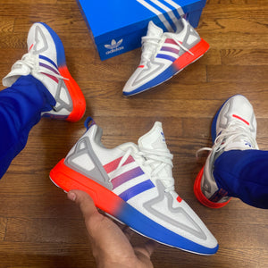 Adidas Original ZX 2X FLUX Men's - FTWWHT/FTWWHT/BLUE
