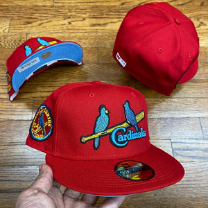 NEW ERA 5950 FITTED STL CARDINALS RED 1934 WS PATCH-ICY BLUE BOTTOM