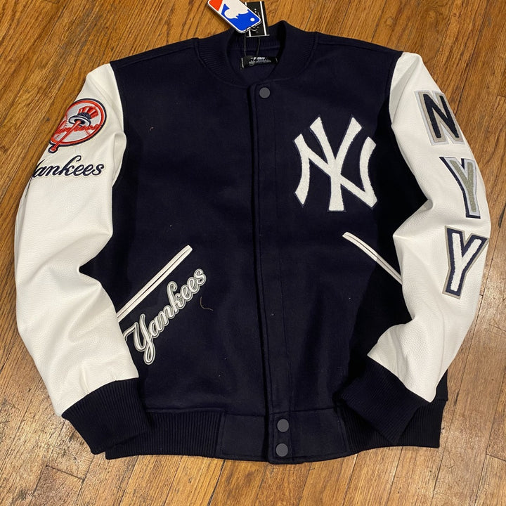 Pro Standard LUXURY ATHLETIC COLLECTION JACKET NEW YORK YANKEES  Men's-NAVY/WHITE