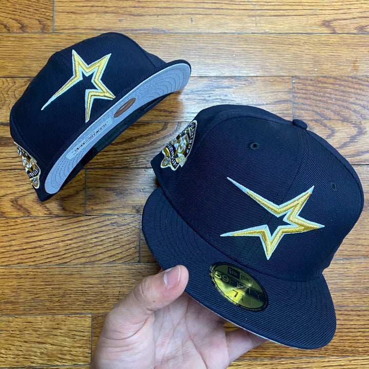 New Era Cap HOUSTON ASTROS 45TH ANNIVERSARY 1965-2010 Men's - NAVY/GOLD/WHITE - Moesports