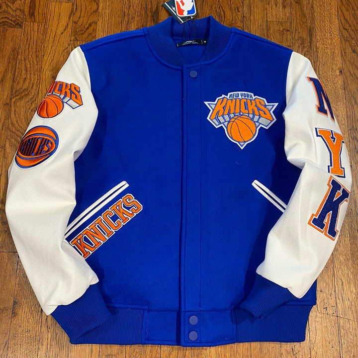 """Pro Standard LUXURY ATHLETIC COLLECTION JACKET NEW YORK KNICKS Men's-ROYAL BLUES"