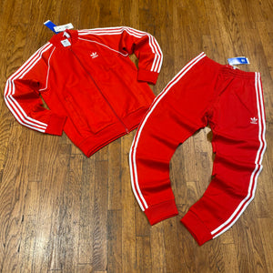 Adidas Originals Men's SST TRACKSUIT-RED/WHITE