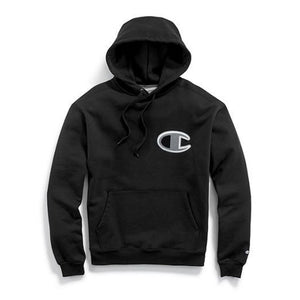 Champion SUPER FLEECE PO HOOD BIG C Men's - BLACK - Moesports