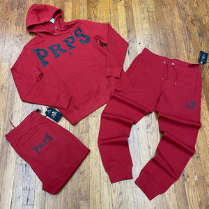 PRPS Bruised, Never Broken HOODY SWEATSUIT Men's -Red/Black - Moesports
