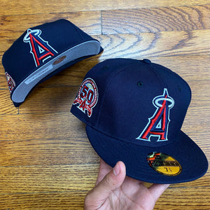 New Era Cap  LOS ANGLES ANGELS BASEBALL 50TH ANNIVERSARY 1961- 2011 Men's - NAVY/RED/WHITE
