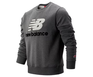 New Balance AT STADIUM CREWNECK Men's - GRY/WHITE - Moesports