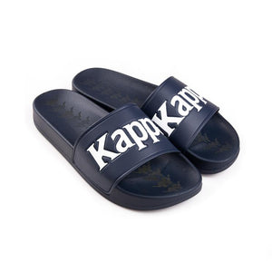 Kappa 222 BANDA ADAM 9 SLIDES Men's - BLUE MARINE/WHITE - Moesports