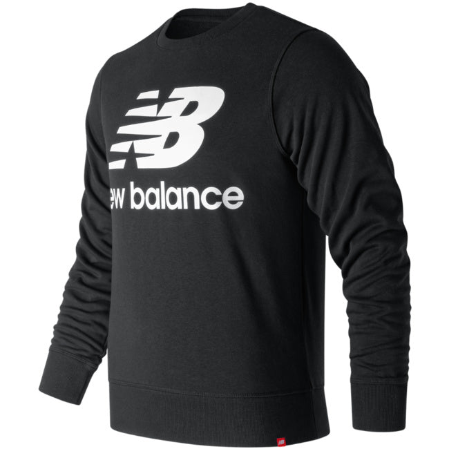 New Balance Stacked Crew Neck Sweatsuit -Black/white - Moesports