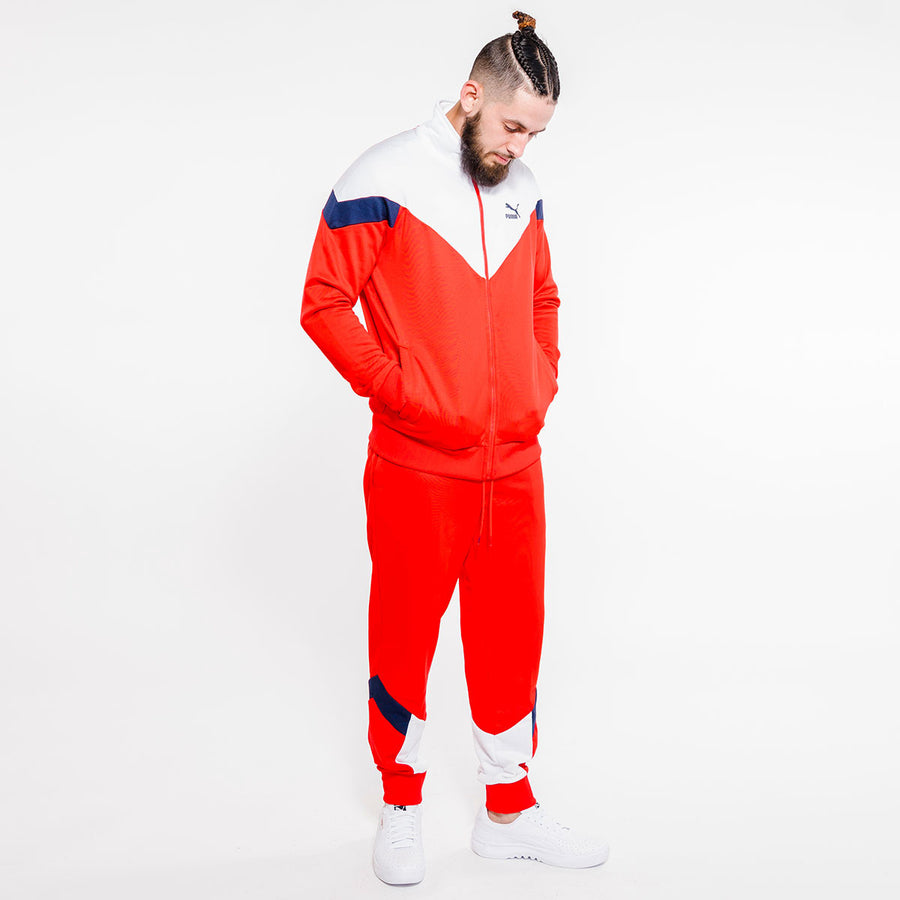 Puma ICONIC MCS TRACKSUIT Men's - HIGH RISK RED - Moesports