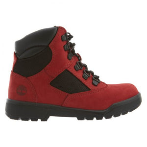 Timberland 6 IN L/F FLD BT Youth's - RED/BLACK