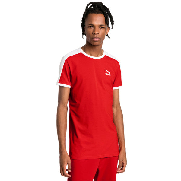 Puma ICONIC T7 SLIM FIT TEE Men's - HIGH RISK RED - Moesports