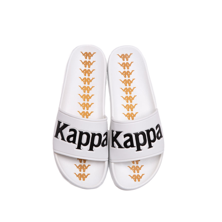 Kappa 222 BANDA ADAM 9 SLIDES Men's - WHITE/BLACK - Moesports