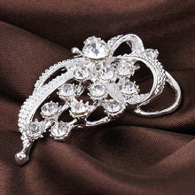 ZHEFANKU Crystal Ribbon Bow Knot Brooch