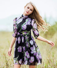 SEQINYY Floral Print Summer Dress