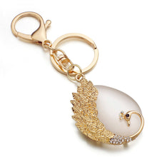 DALALFUL Peacock Purse Charm Key Chain