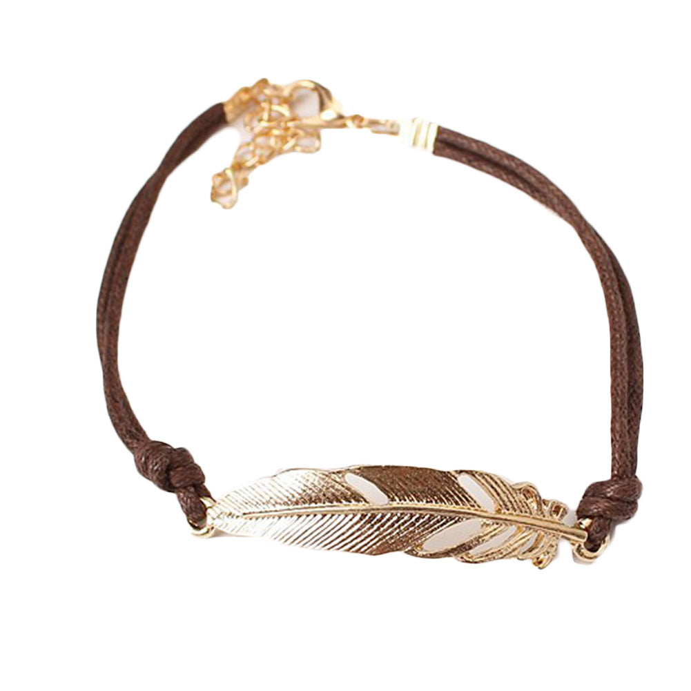 ZHEFANKU Fashion Leaf Bracelet