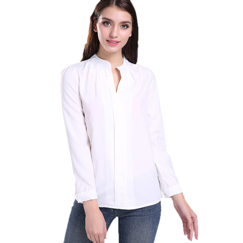 SINGWING V-neck Long Sleeve Blouse